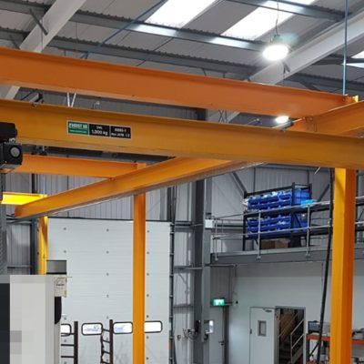 Articulated Trolleys as part of an Overhead Crane System for a Manufacturing Operation