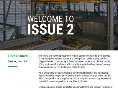 Hoist UK Newsletter Issue 2 - Introduction Page