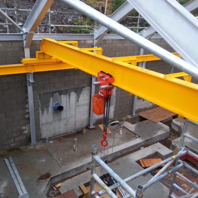 Manual Overhead Crane Bridge with Manual Chain Hoist and Hand Geared Travel Trolley