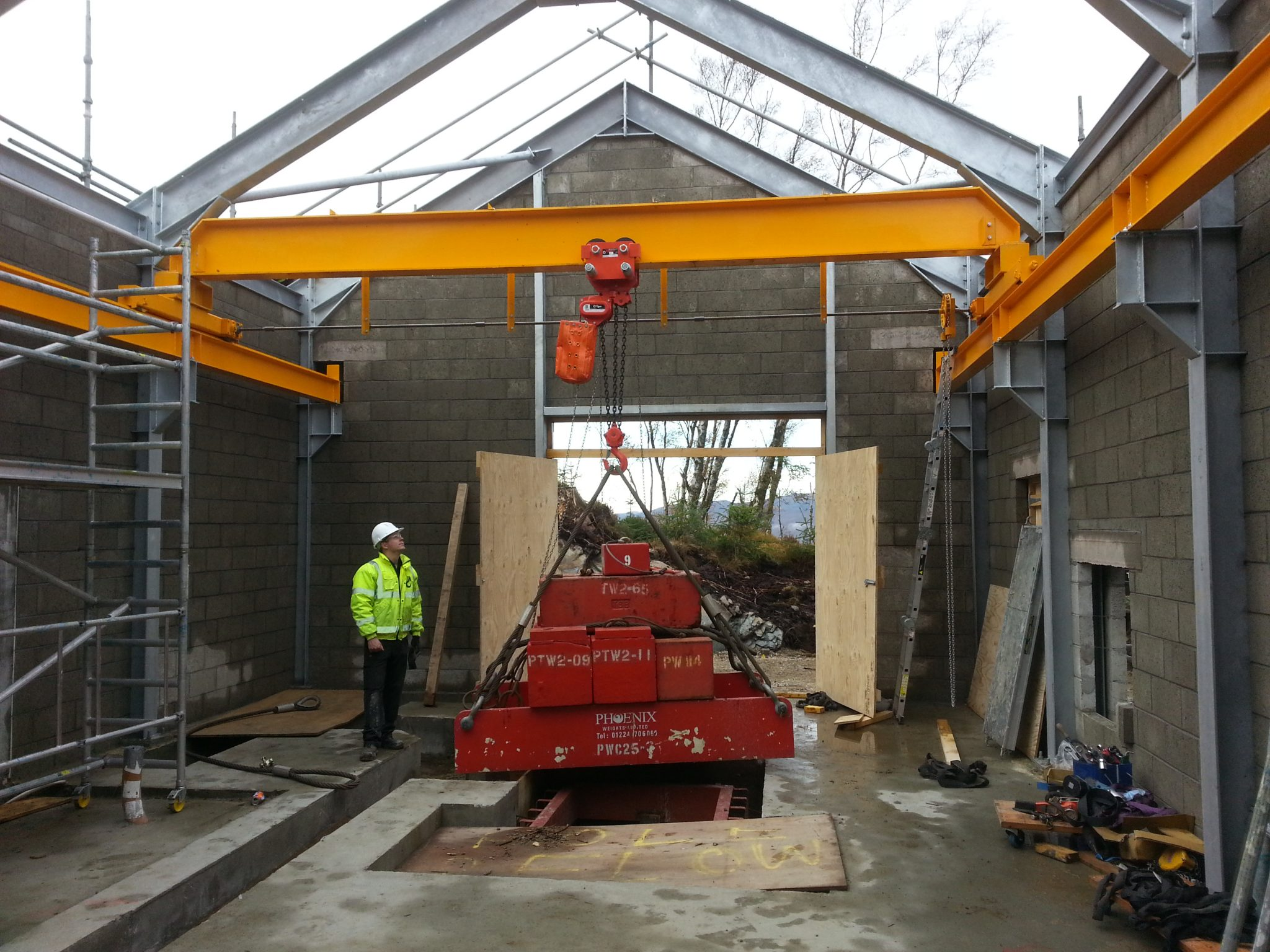 Manual Top Running Crane Bridge for Hydro Scheme Maintenance Plant