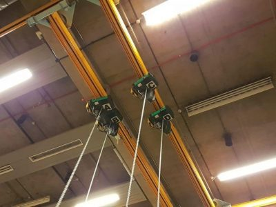 Overhead Crane System for the scene dock at the National Theatres Dorfman Theatre