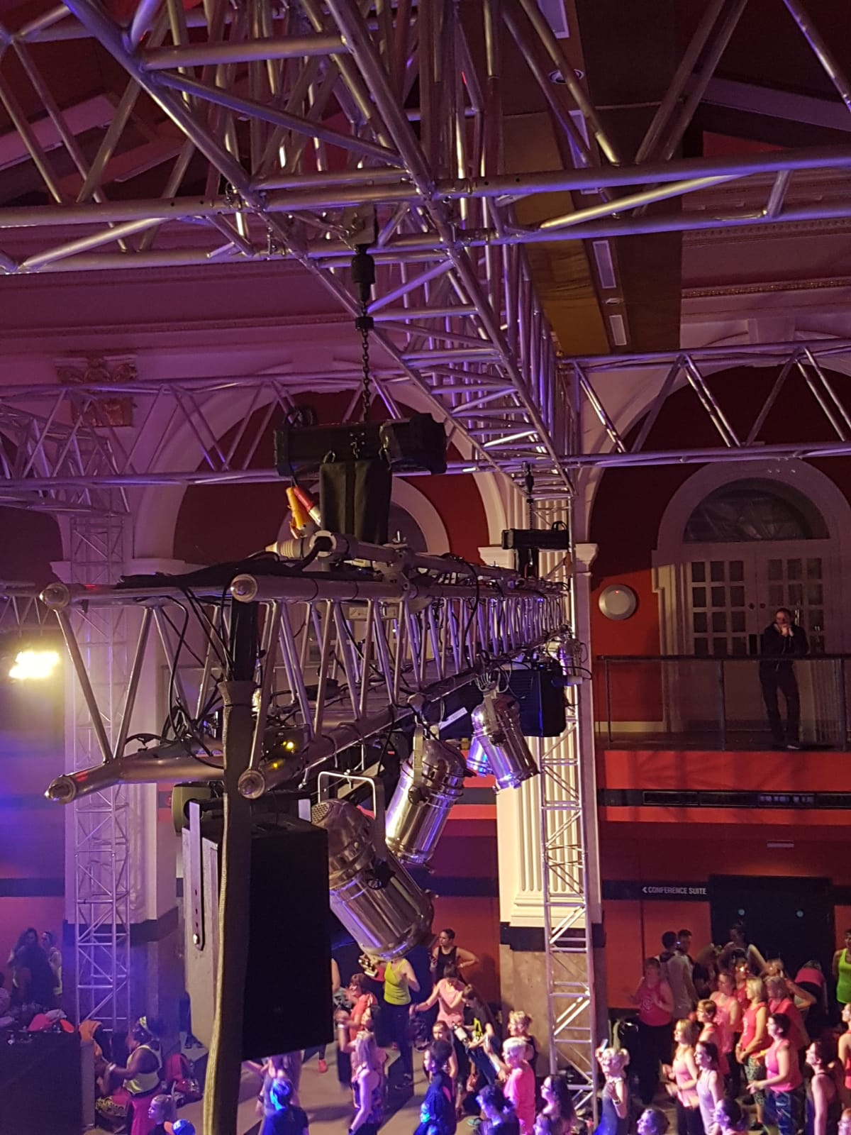 Hoist UK - Rigging Motors with a Truss Ground Support System
