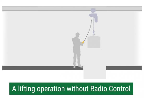 A lifting operation without radio control