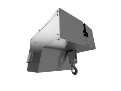 Eurolift BH Belt Hoist with Brushed Stainless Steel Covers