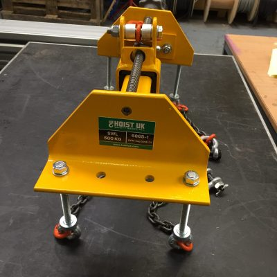 Bespoke Lifting Beam with Adjustable Lifting Point to Control Centre of Gravity