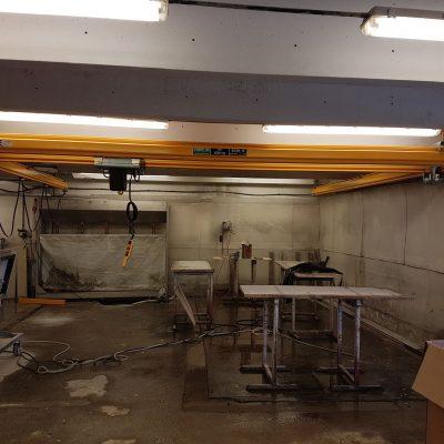 Light crane system installation