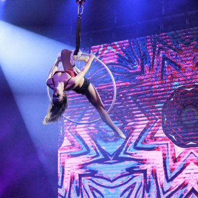 Aerial Performer Hoop provided by Hoist UK