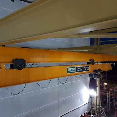 Runout Crane with VR Electric Chain Hoist for Food Industry Customer
