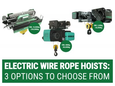 Eurobloc VT, VM Essentials and VT Open Barrel Electric Wire Rope Hoist