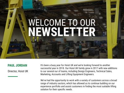 Hoist UK Newsletter Issue 1