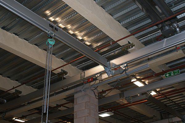 Royal Shakespeare Company's Scenic Workshops Aluminium Monorail Track and Chain Hoist 2