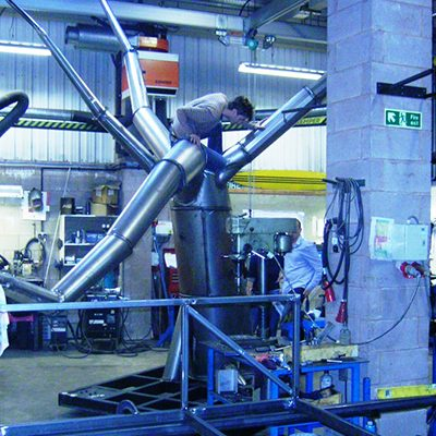 Royal Shakespeare Company's Scenic Workshops Aluminium Monorail Track with Chain Hoists 1