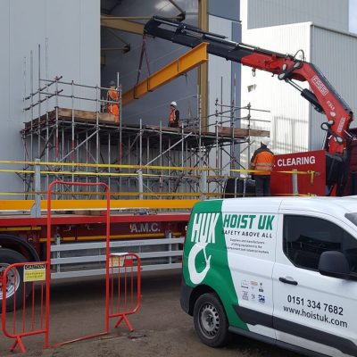 Hoist UK Installing a Runout Crane for a Food Industry Customer