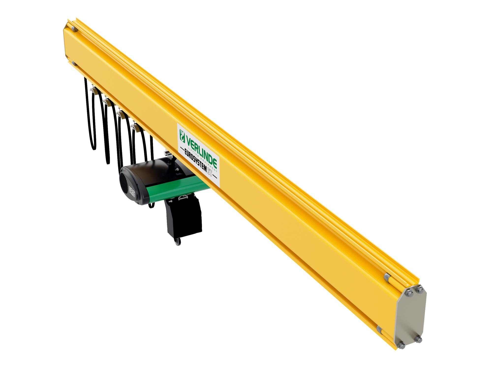 Steel Lightweight Monorail Crane System Modular Design