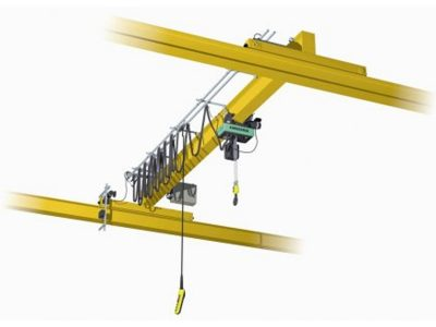 Single Girder Overhead Crane Top Running With Chain Hoist