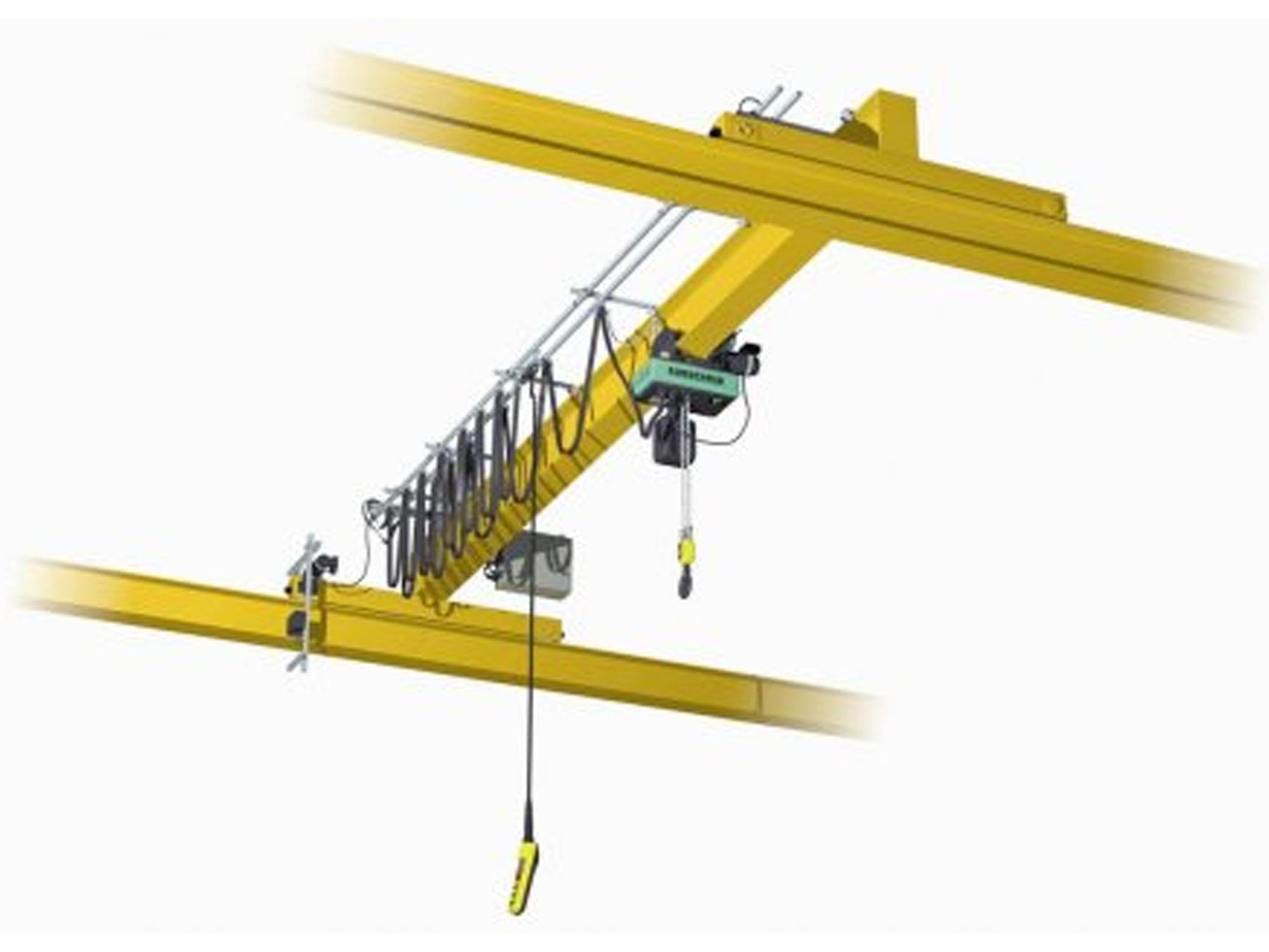 Overhead Crane Beam Design : Single girder overhead crane top running with chain hoist