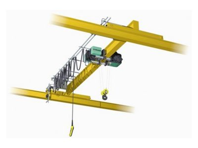 Single Girder Overhead Crane Top Running With Electric Wire Rope Hoist