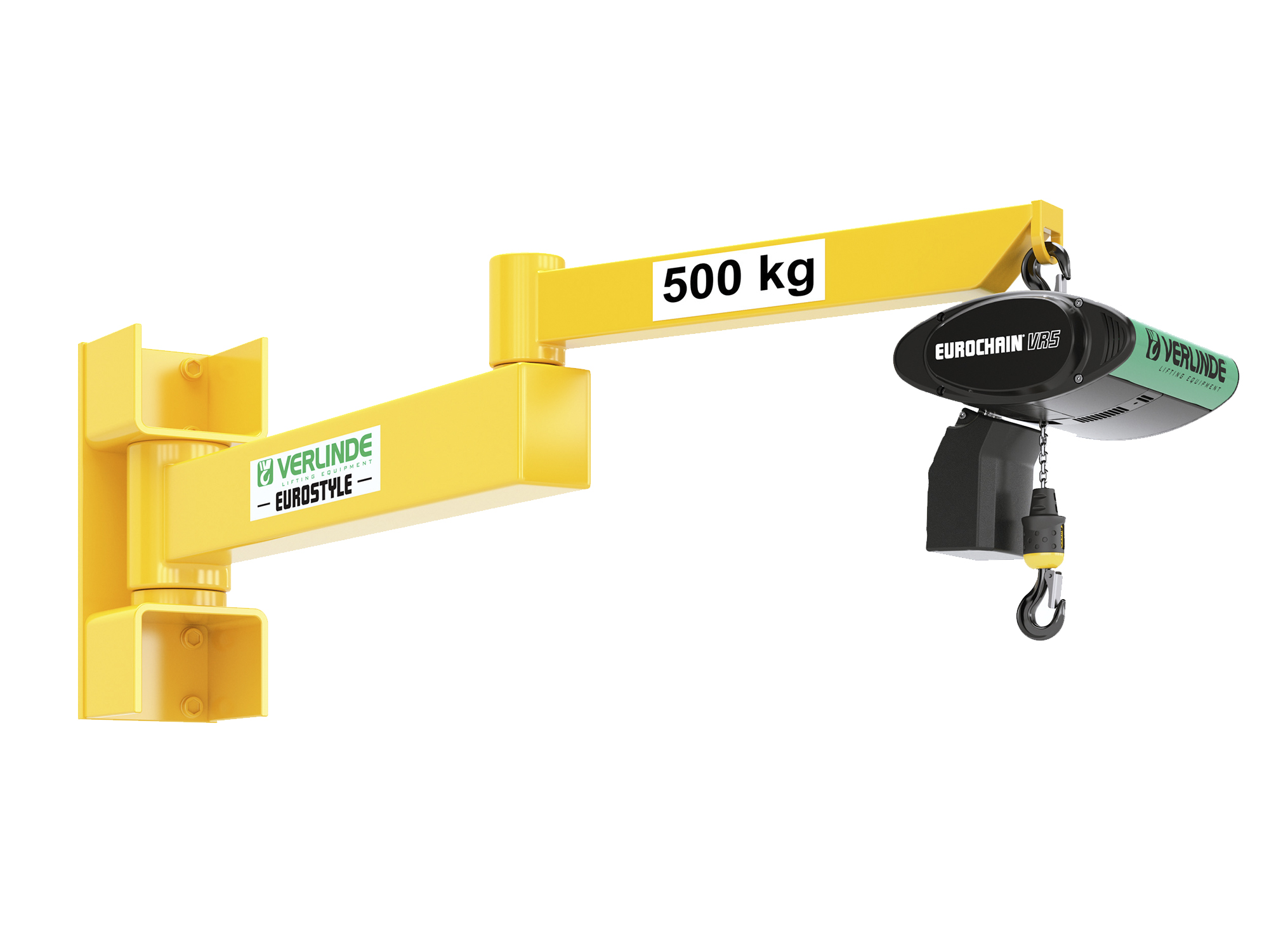 Wall Mounted Articulated Jib Crane For 10 000kg Loads And