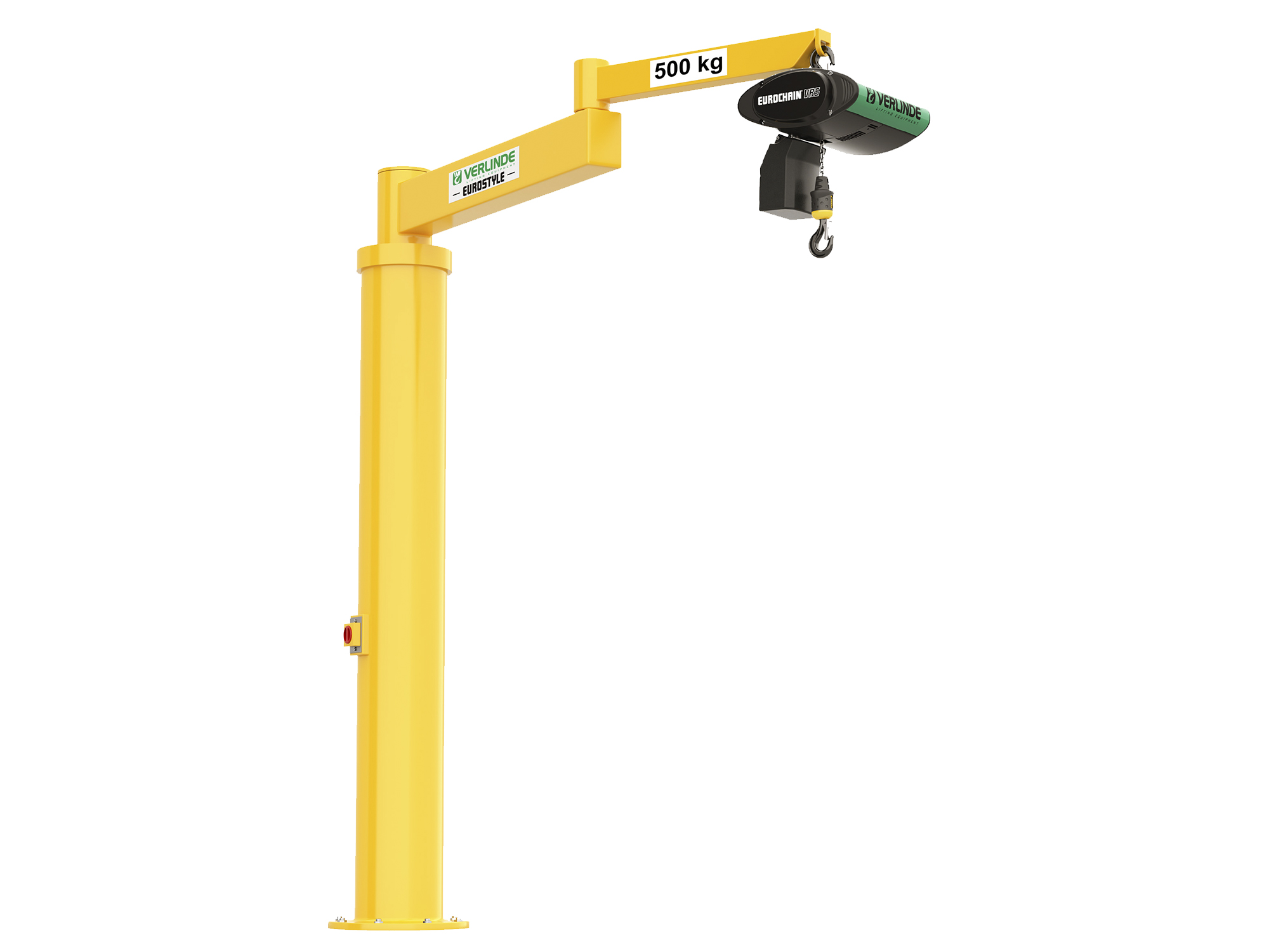 Free Standing Floor Mounted Articulated Jib Crane 1 000kg Lifting Capacity