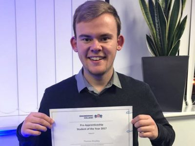 Tom Bradley Pre-Apprentice of The Year Finalist 2017