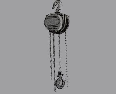 Typical Single Fall Block Manual Chain Hoist