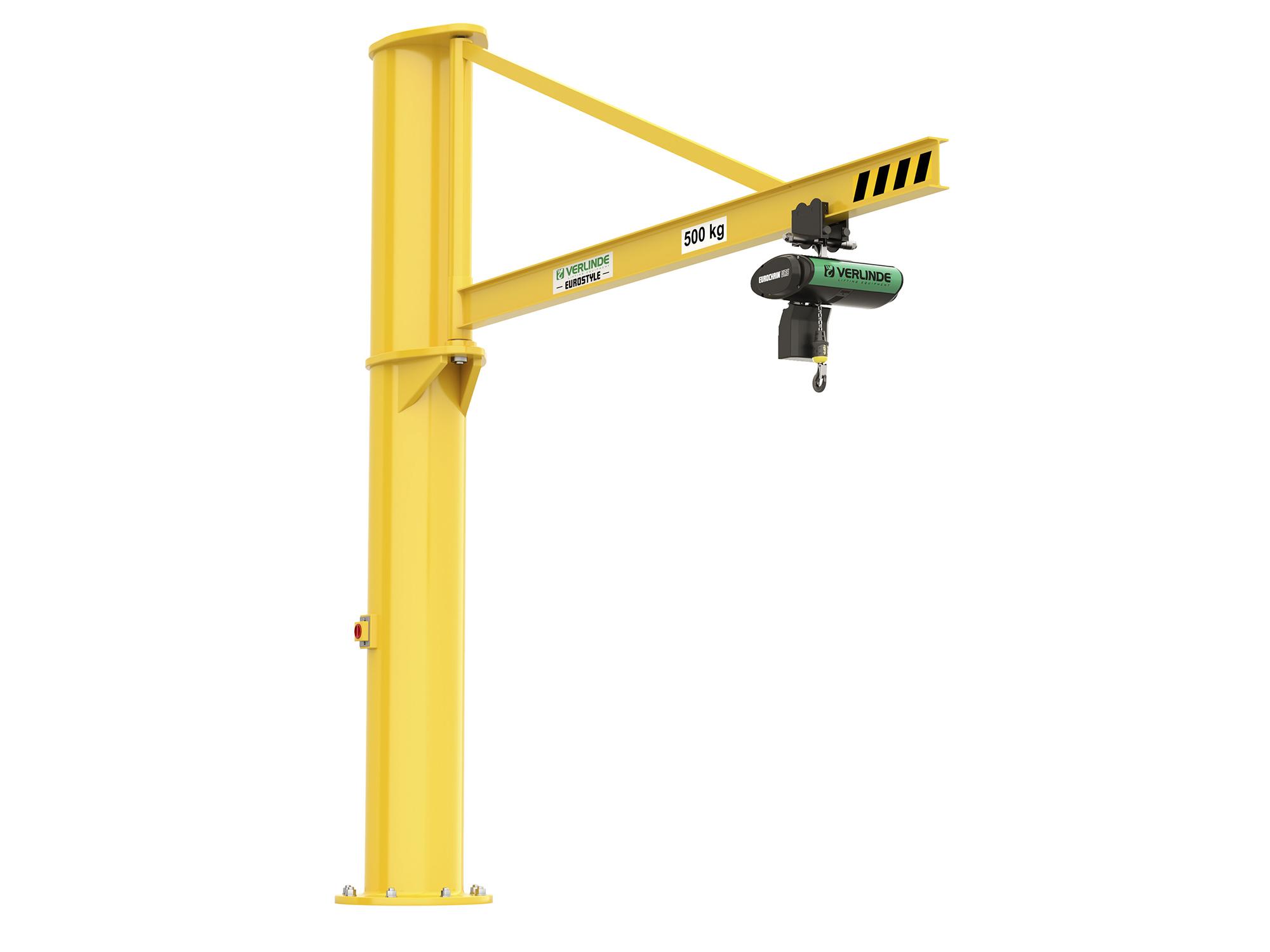 Jib Cranes Images : Vft free standing floor mounted overbraced jib crane