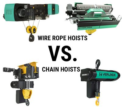 Wire Rope Hoists VS. Chain Hoists