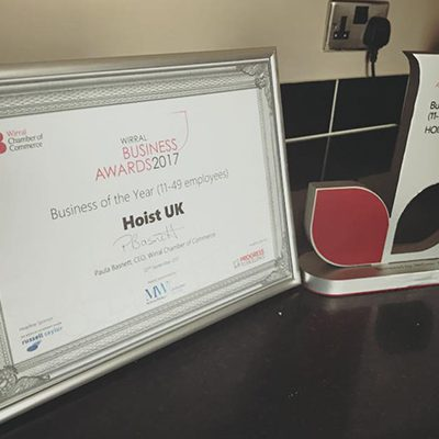 Wirral Business Awards Business of the Year (11-49 Employees) Trophy and Certificate