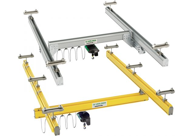 Steel and Aluminium Single Girder Workstation Bridge Cranes