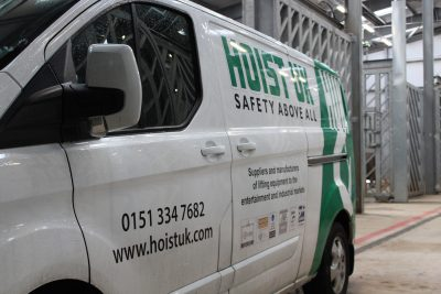 Hoist UK Van on site at Blackpool Zoo